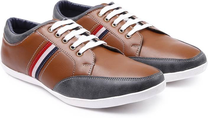 Arthur Men's Coffee-Grey PU Sneakers For Men (Multicolor) at Rs.224 only