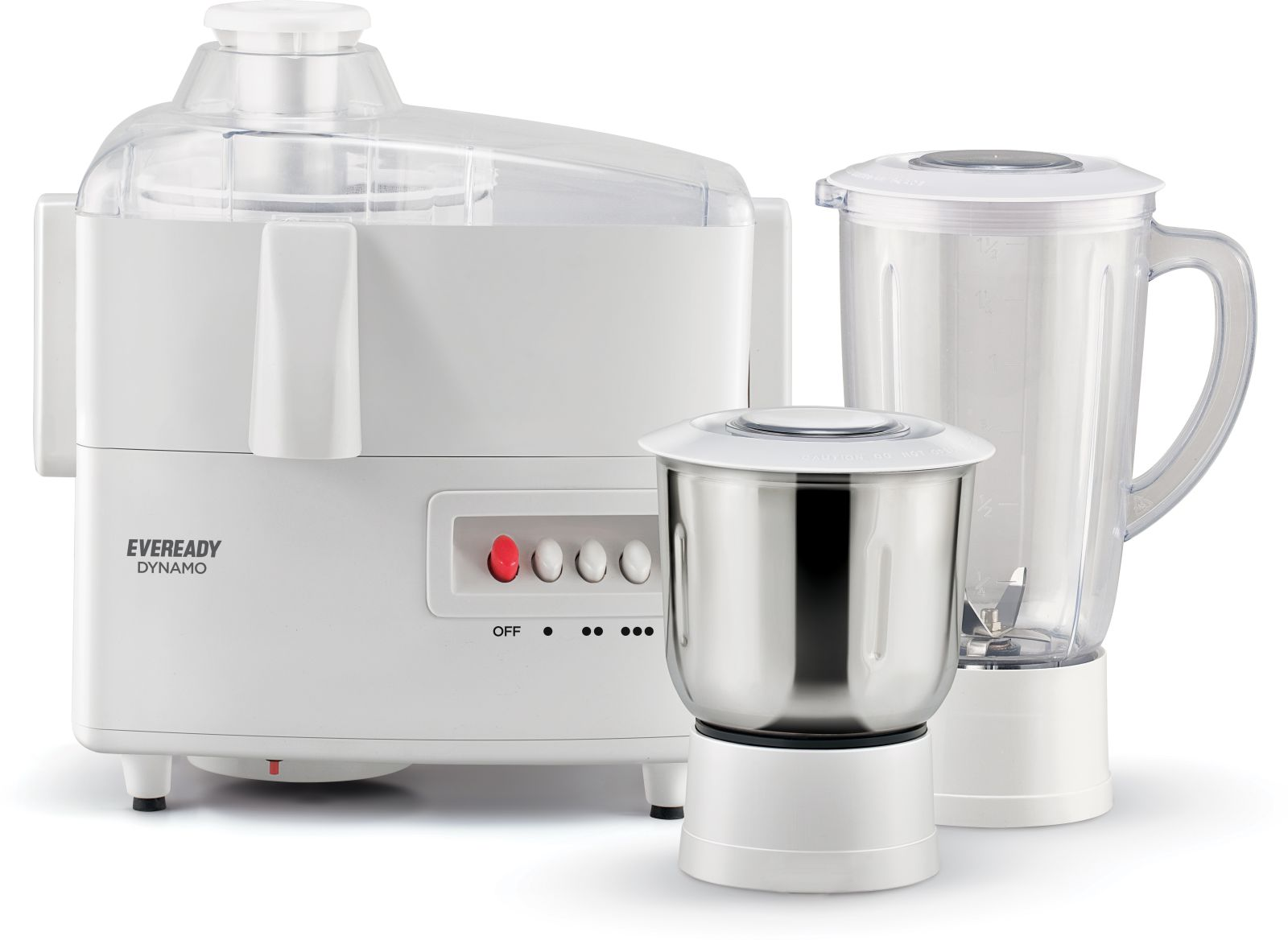 Eveready Dynamo 450W Juicer Mixer Grinder with 2 Jars @Rs.1399 only [Mrp-3495] Flipkart