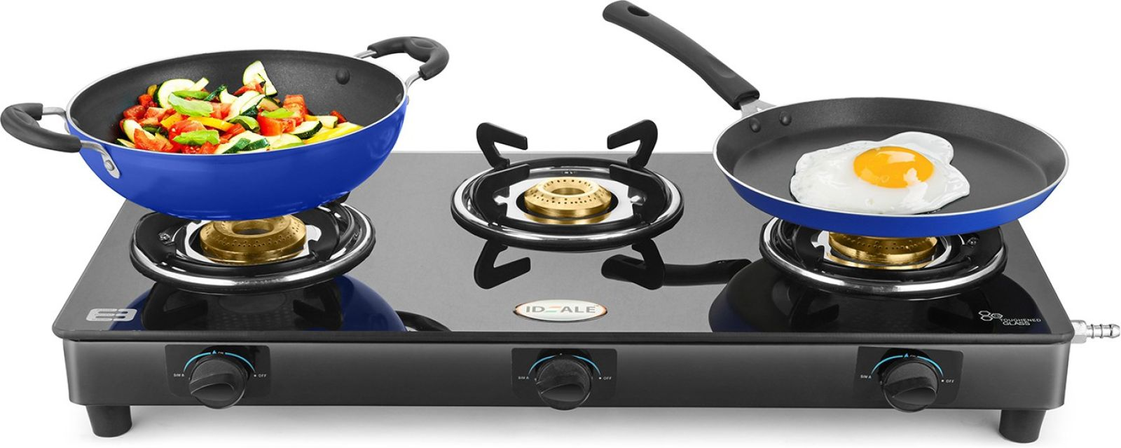 Loot Ideale Gas Stove 3 burners just @Rs 1899 only