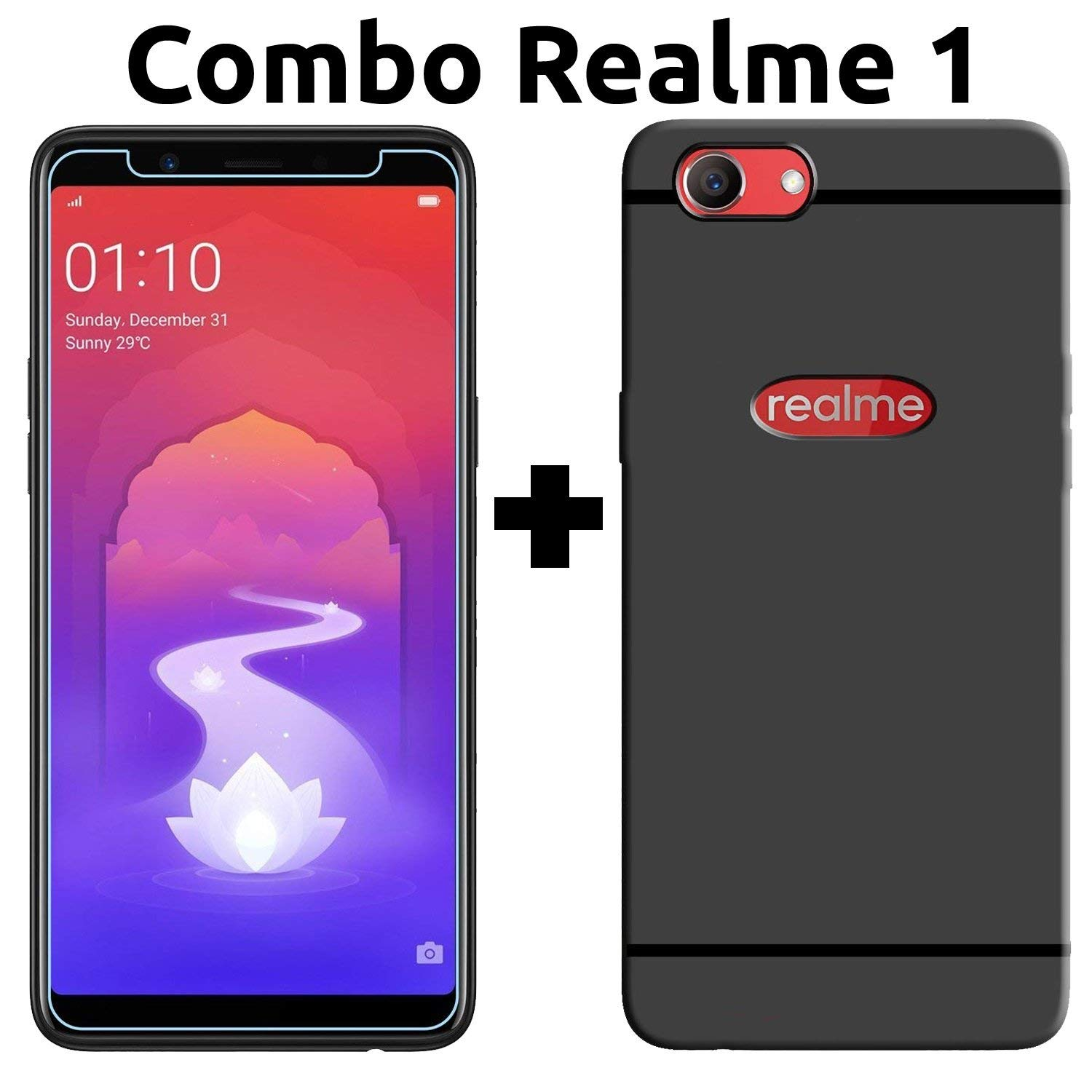 [LOOT]Oppo Realme 1 Cover & Tempered Glass (Combo Pack)