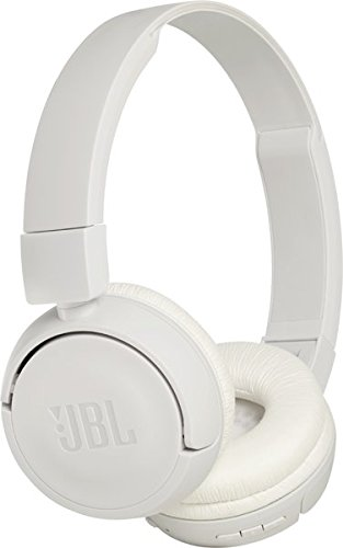 JBL T450BT Extra Bass Wireless On-Ear Headphones with Mic (White)