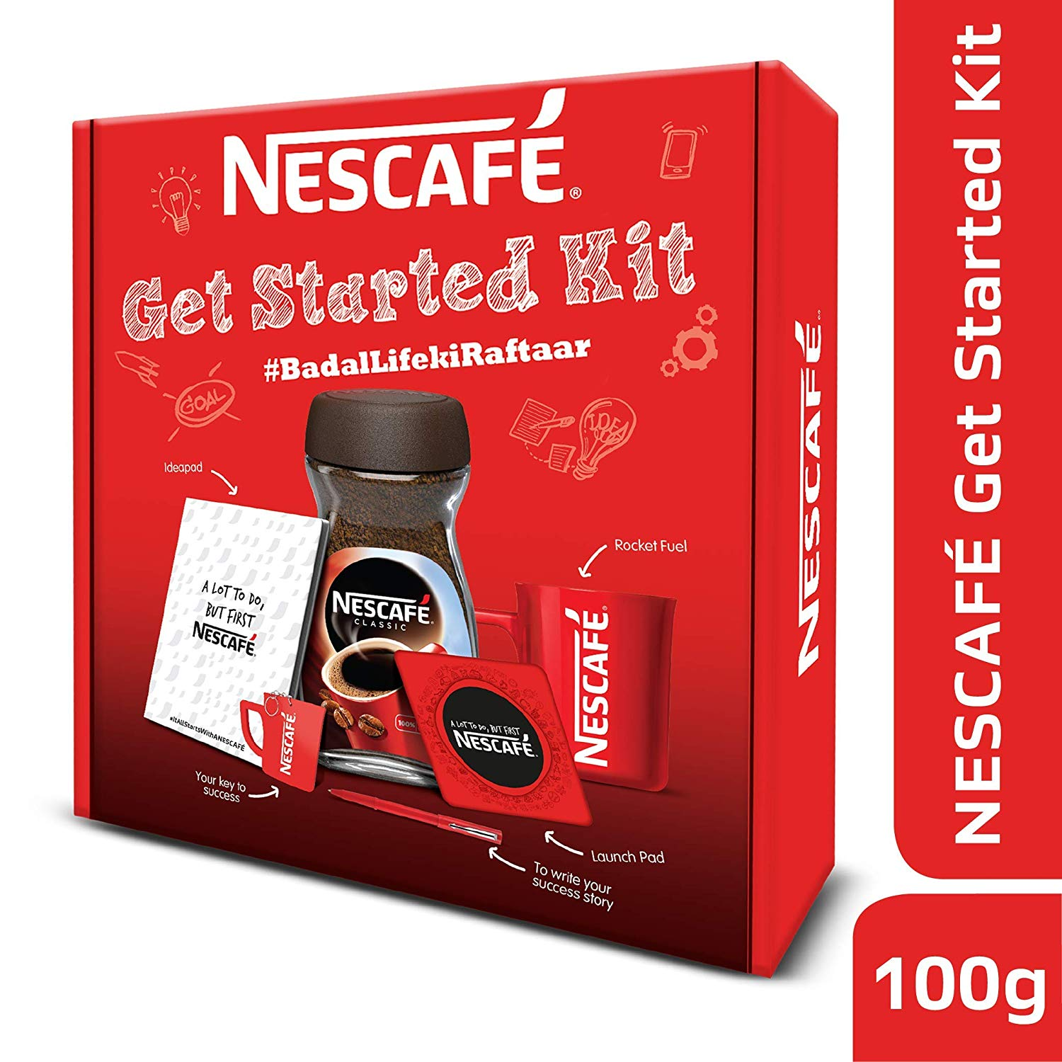 Nescafe Classic Get Started Coffee Kit, 100g at Rs.384 only