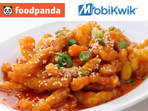 Foodpanda Offers 50% cashback Up To Rs. 75 on all Saturdays & Sundays Pay Through Mobikwik