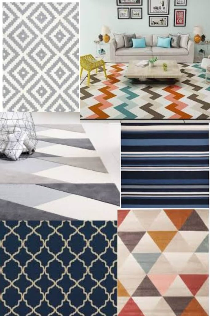 geometric pattern rugs