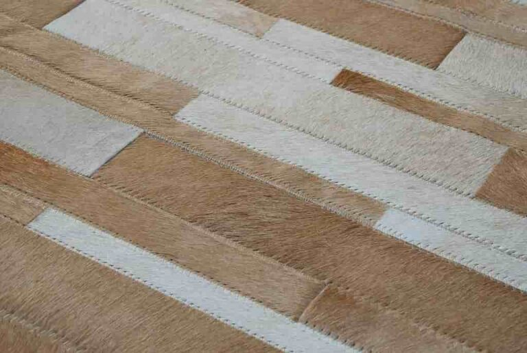 patchwork hide rug style