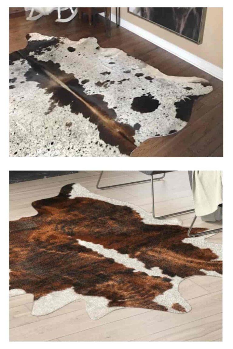 real cowhide pattern rugs
