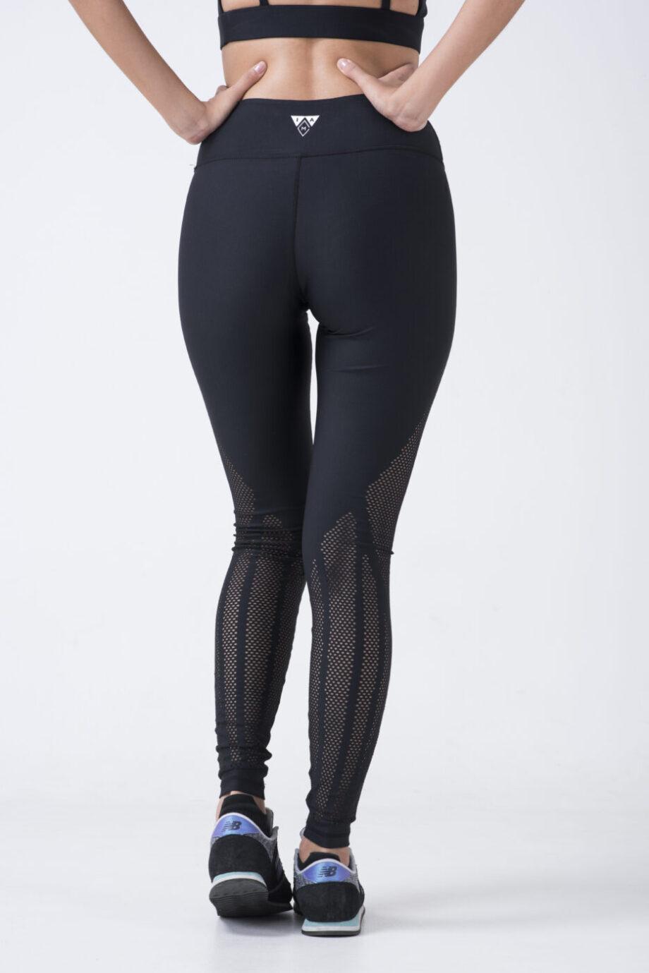 woman in black leggings