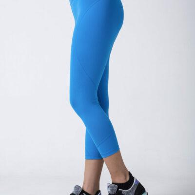 woman in blue leggings