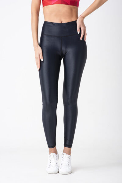 woman leather leggings