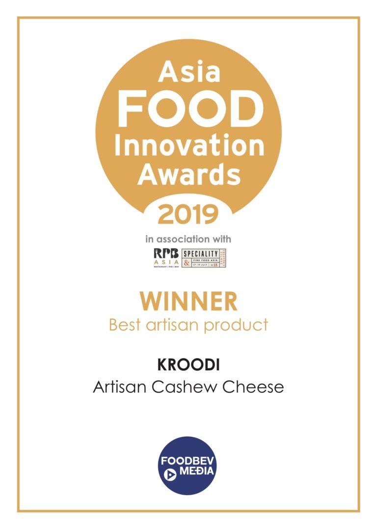 ASIA FOOD INNOVATION AWARDS 2019 Best-Artisan_Kroodi