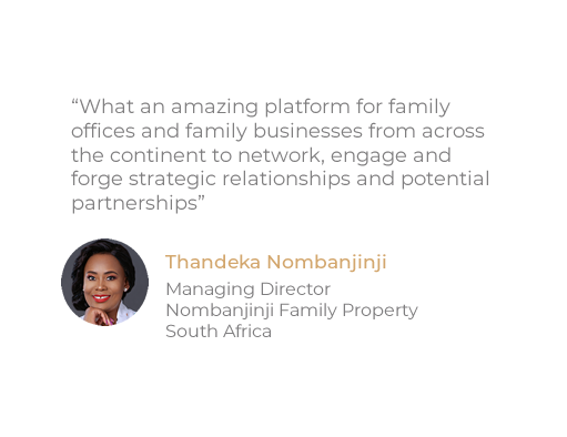 Testimonial 3 Africa Family Office Summit.fw