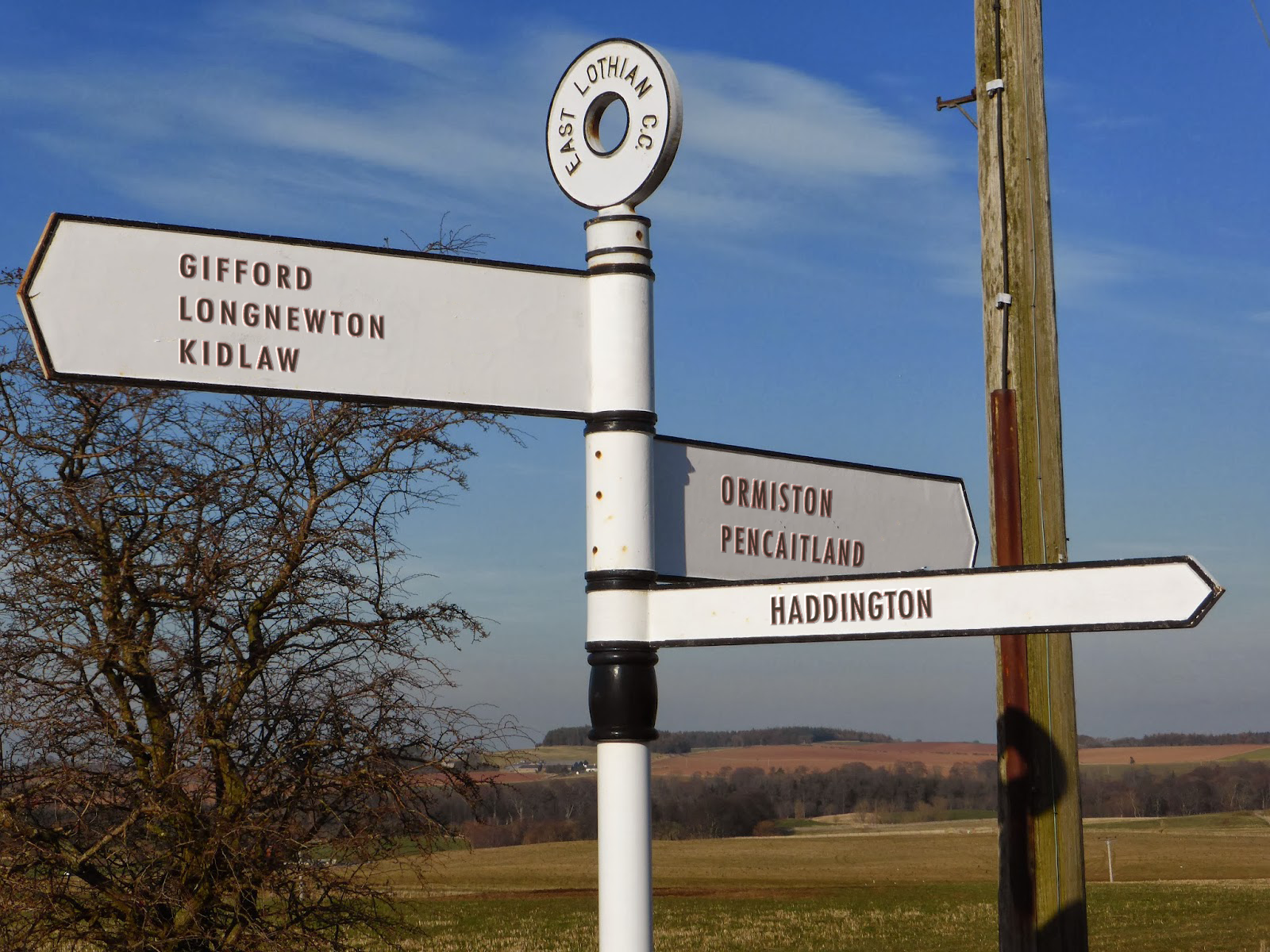 East Lothian signpost