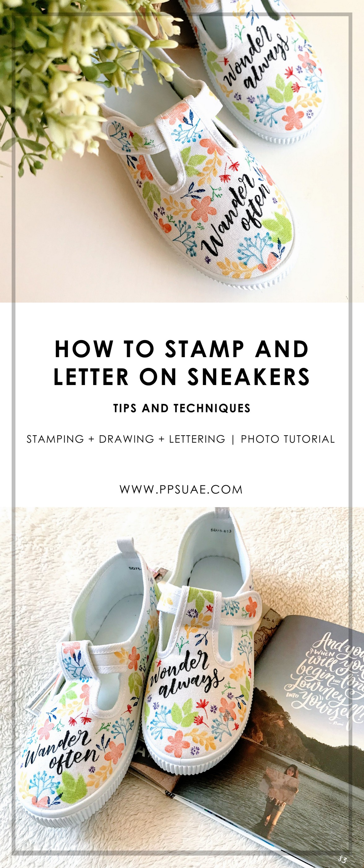 Sneakers Stamping Lettering