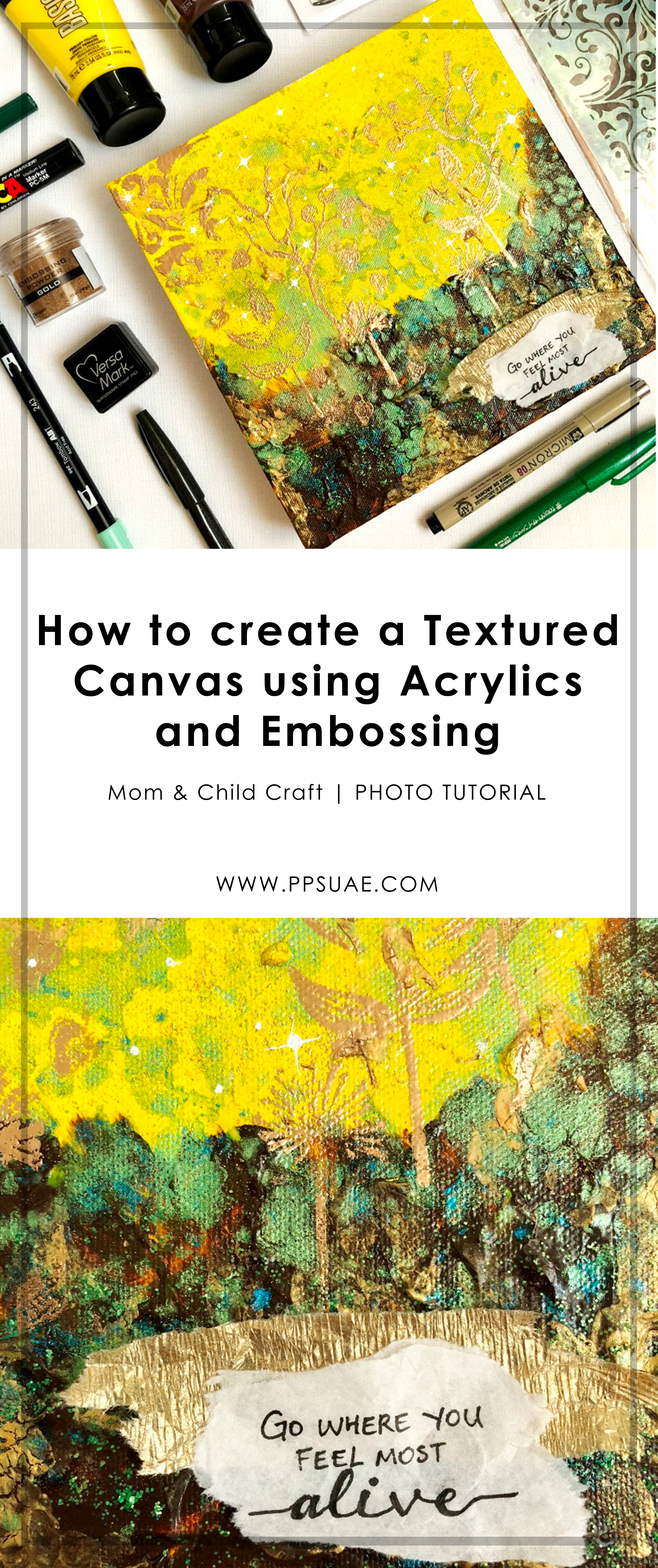 Acrylics and Embossing Feature Image