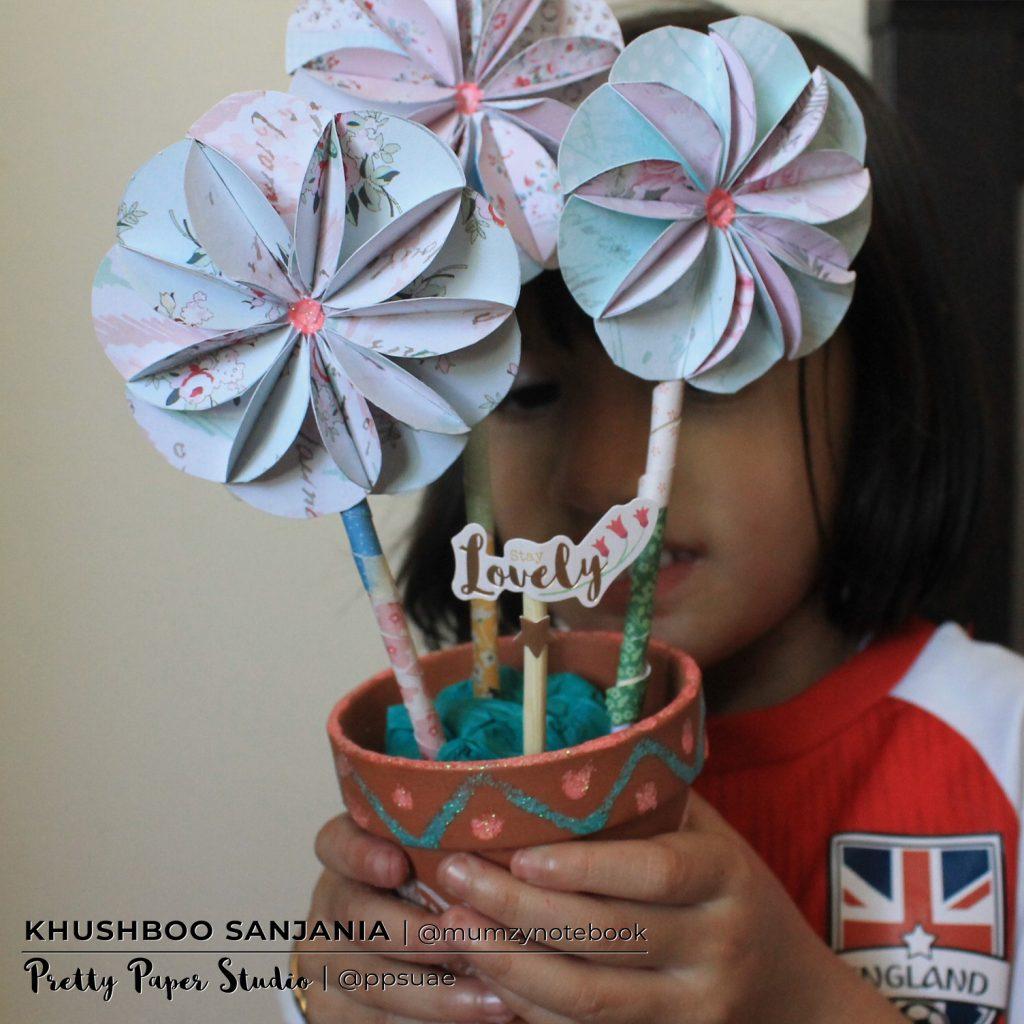 Paper Flowering Pot
