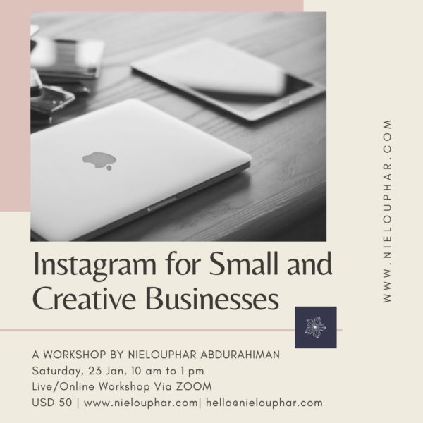 Instagram for Small and Creative Businesses – Online LIVE Workshop Via Zoom