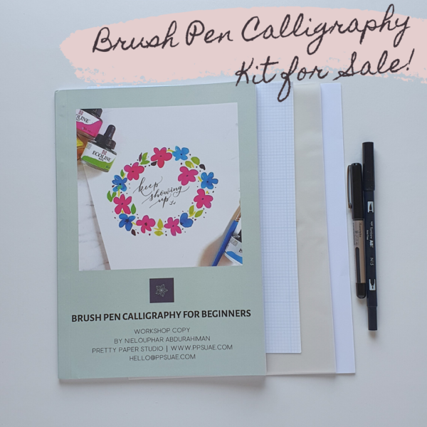 ENGLISH BRUSH PEN CALLIGRAPHY KIT FOR BEGINNERS