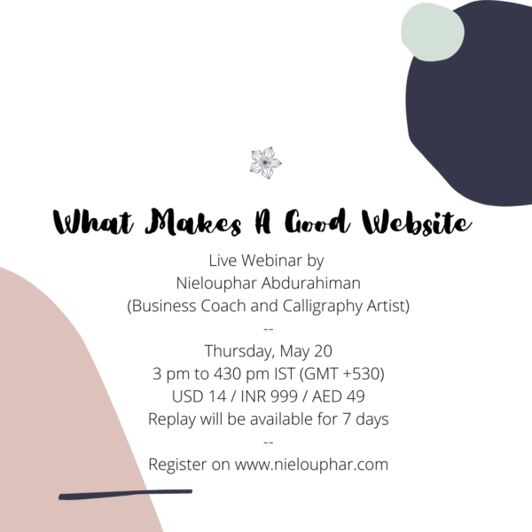 What Makes A Good Website – Live Webinar via Zoom