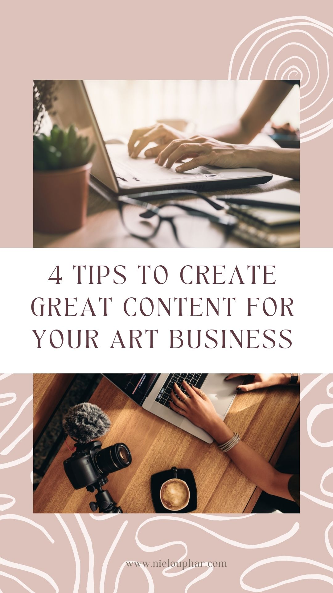 how to create content for art business