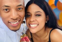 Photo of Dumi Mkokstad Supports His Wife And Endorses Her Business