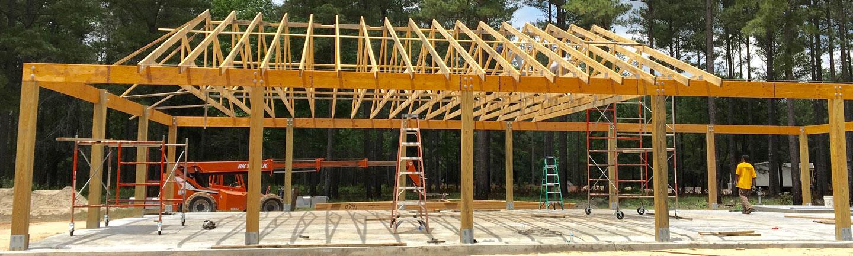 wooden house frame