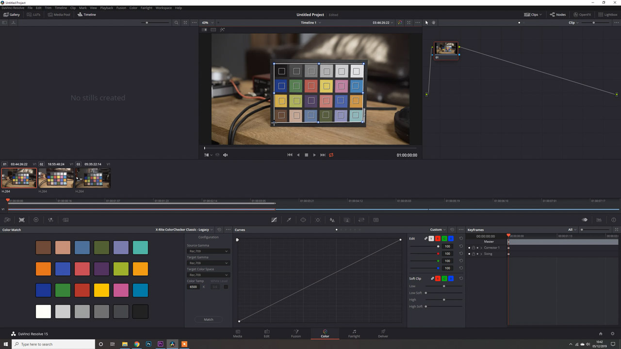 Davinci Resolve Colour Chart