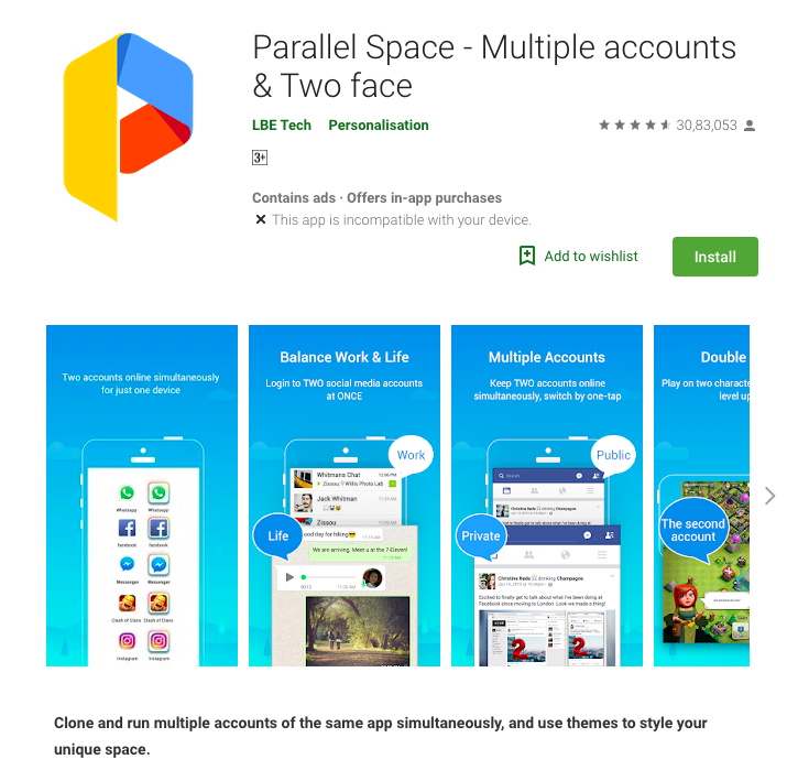 Parallel Space Download