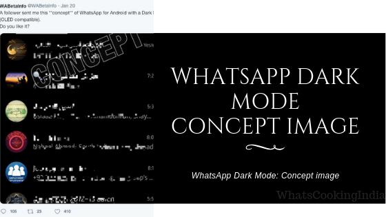 WhatsApp Dark Mode: Concept Image Revealed