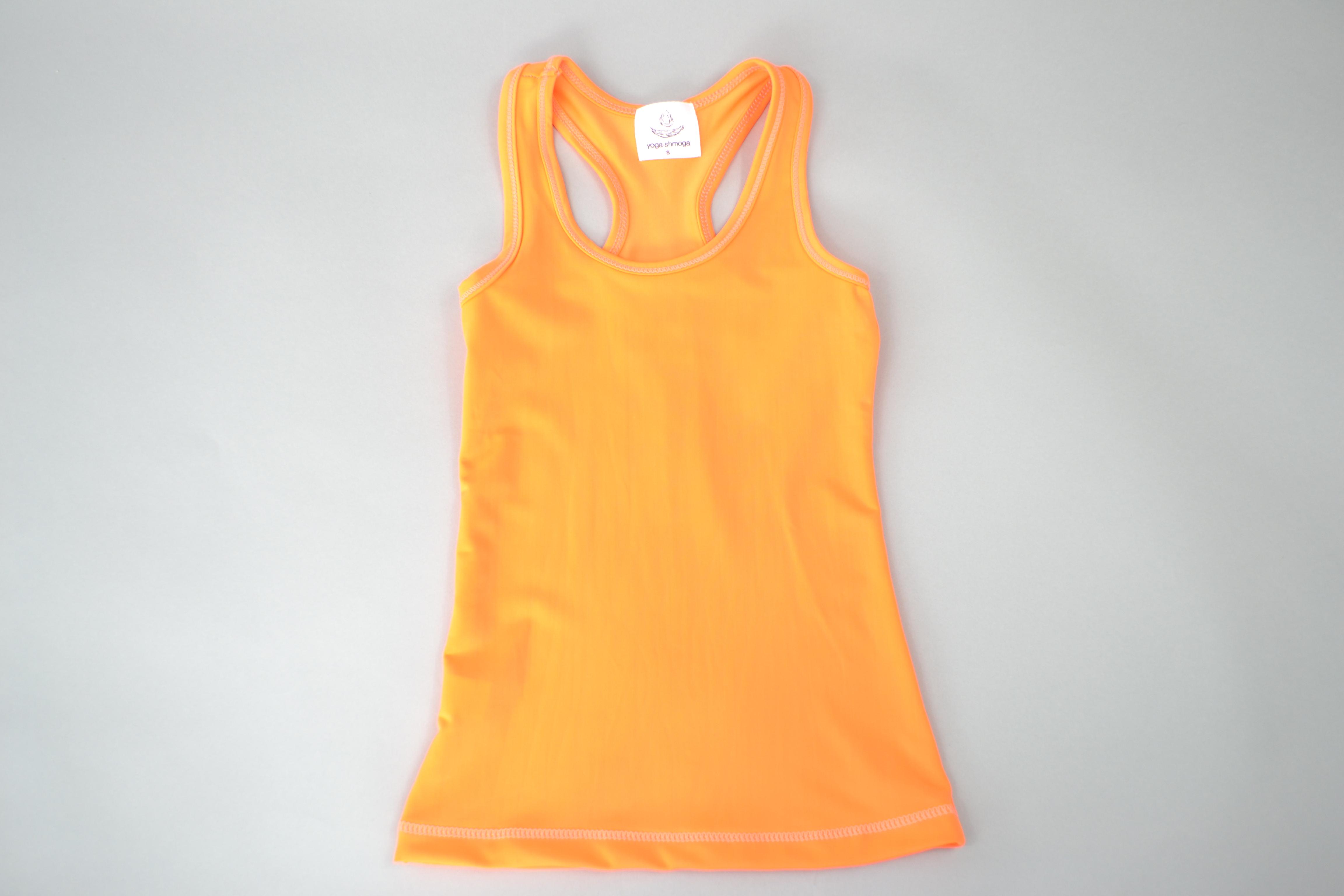 Kids Yoga Vest Top - Orange