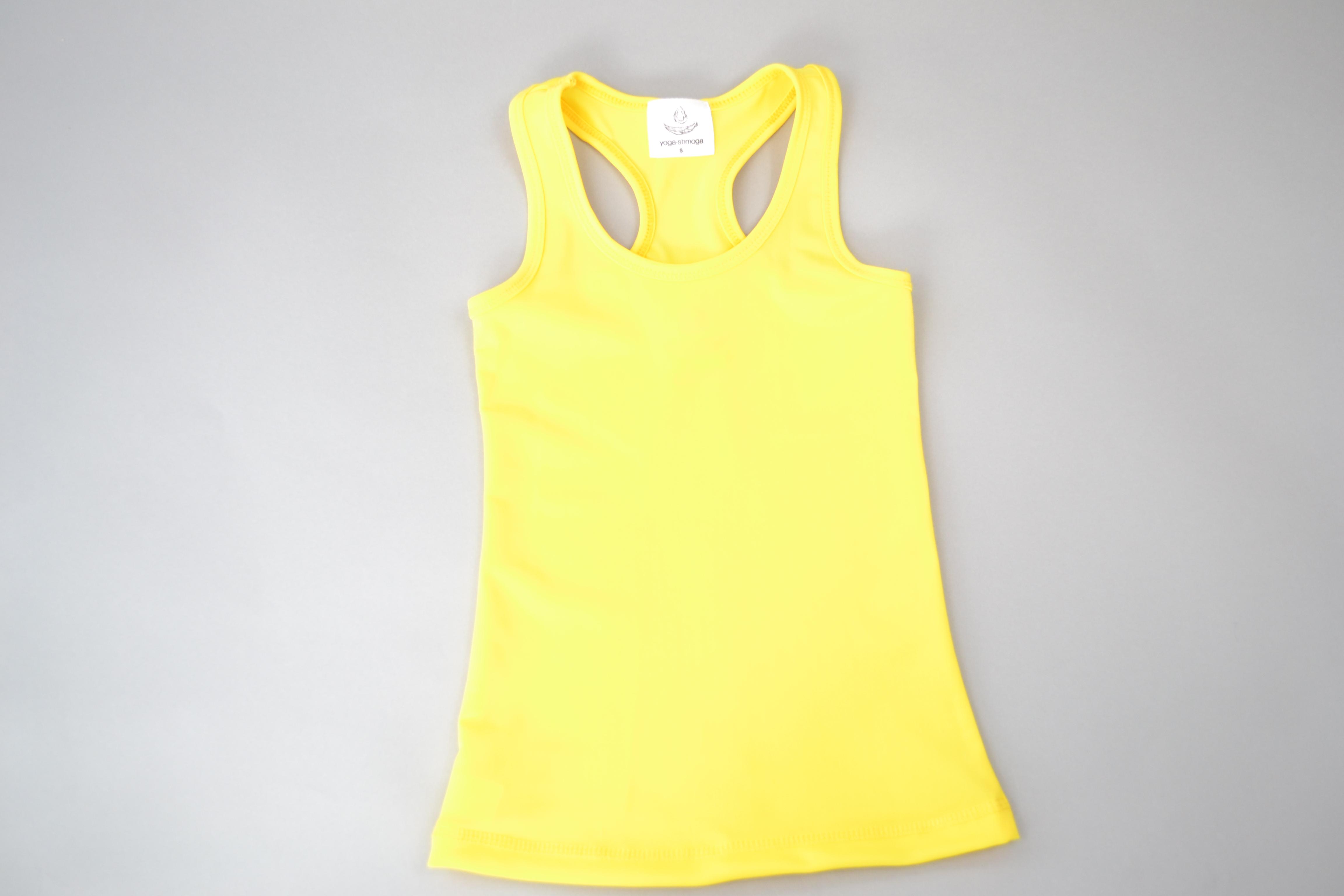 Kids Yoga Vest Top - Yellow