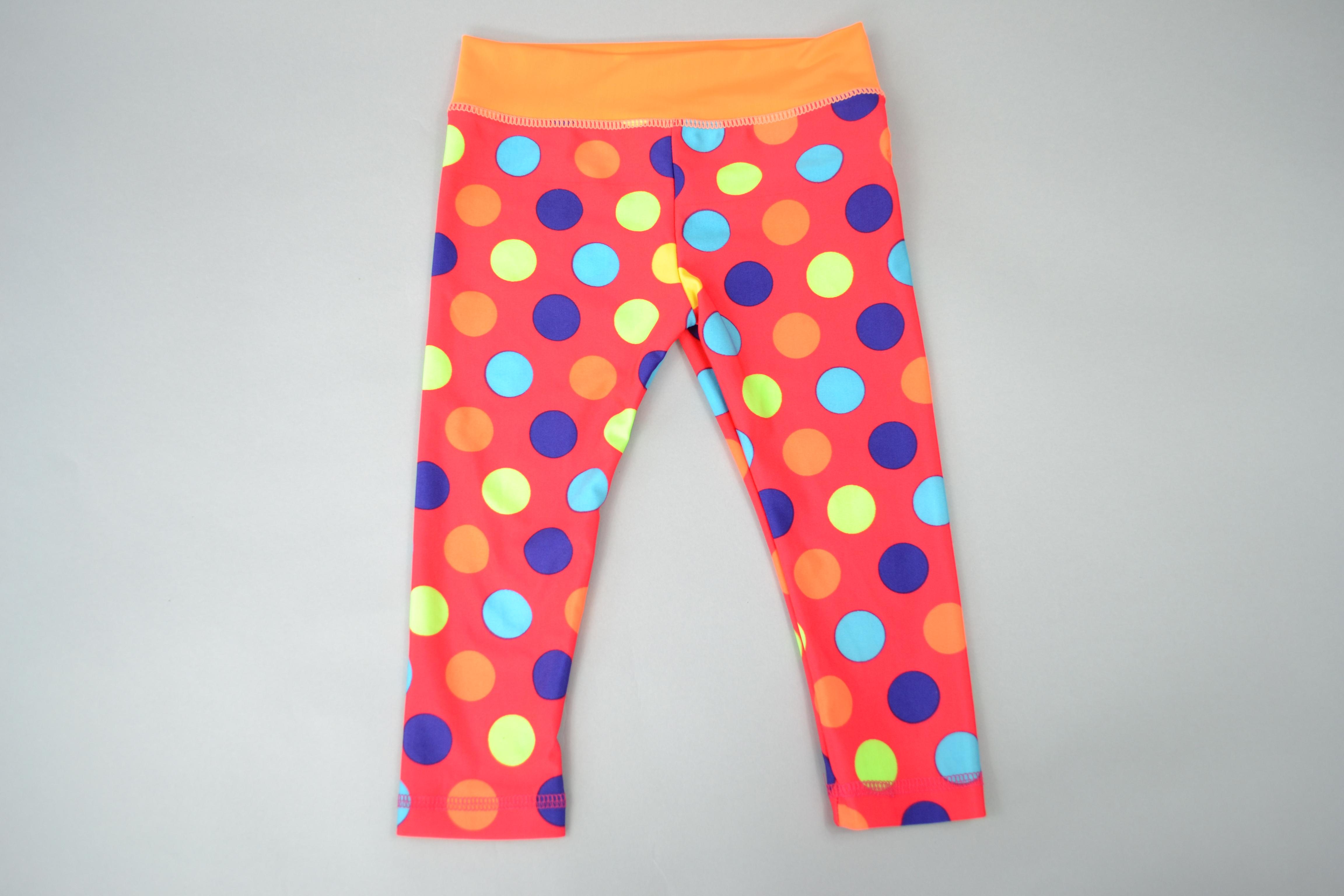 Kids Yoga Leggings - Polka Dot
