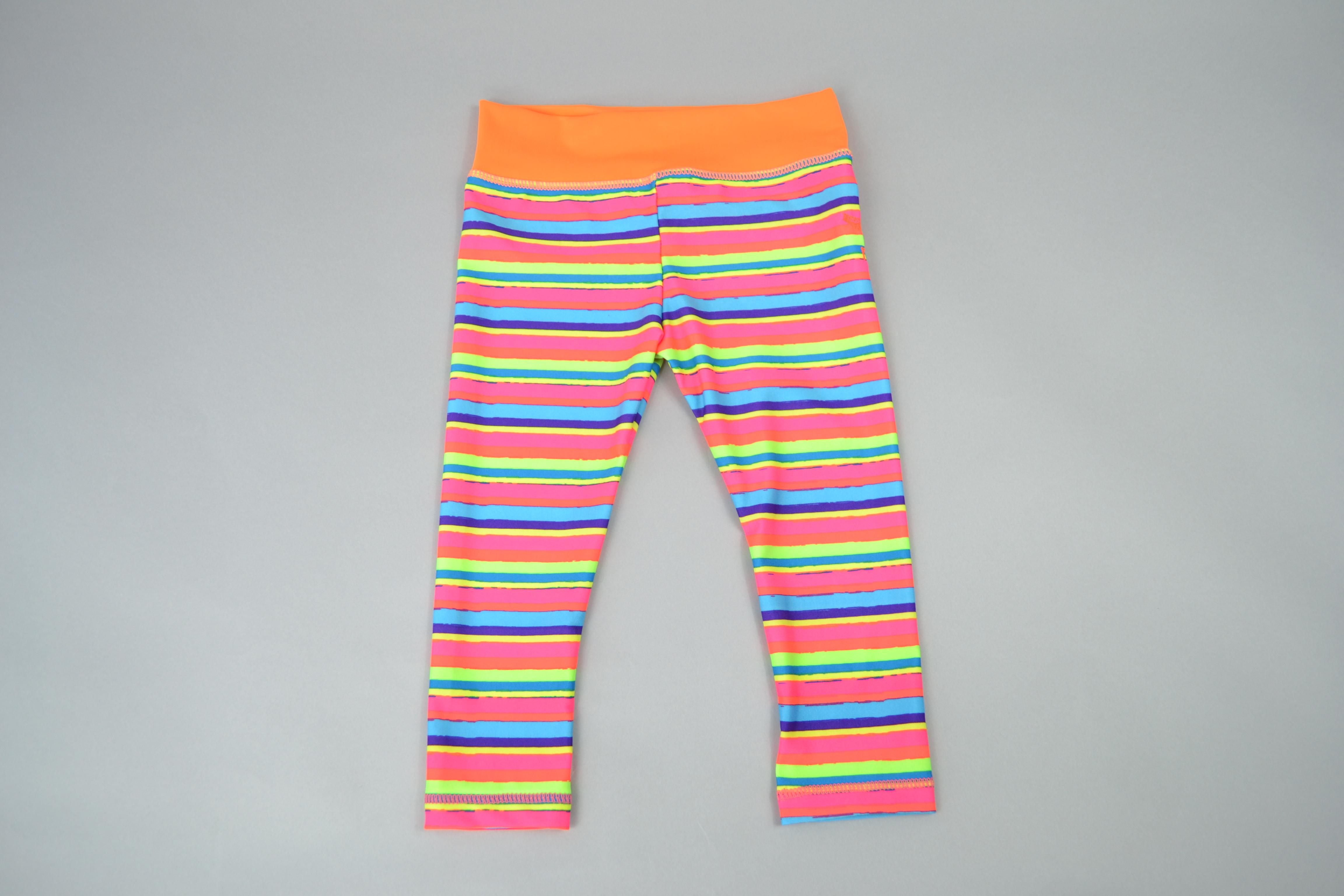 Kids Yoga Leggings - Striped