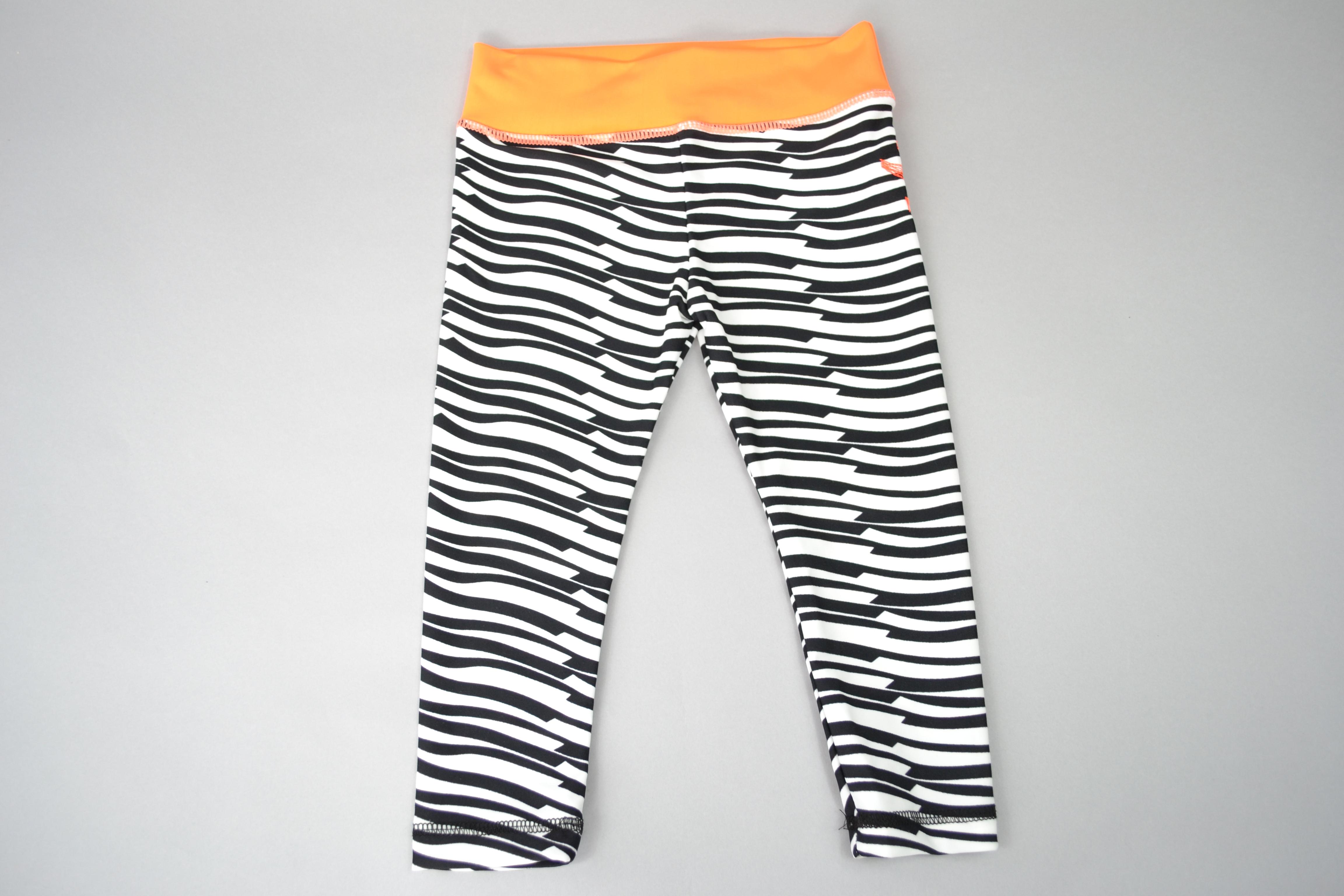 Kids Yoga Leggings - Zebra Pattern