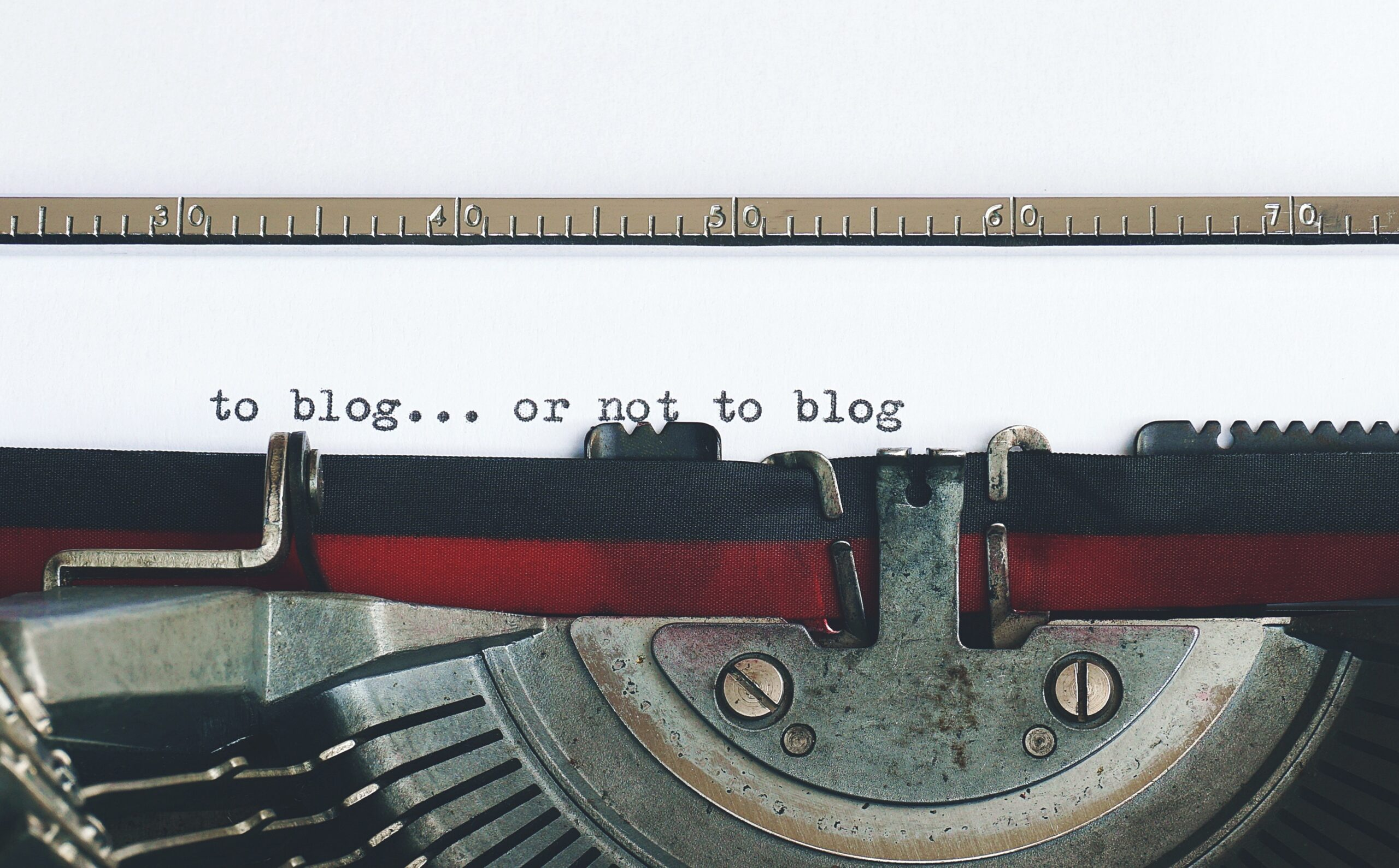 Typewriter - Rachel Writes blog 'Why should I have a blog on my company website?'