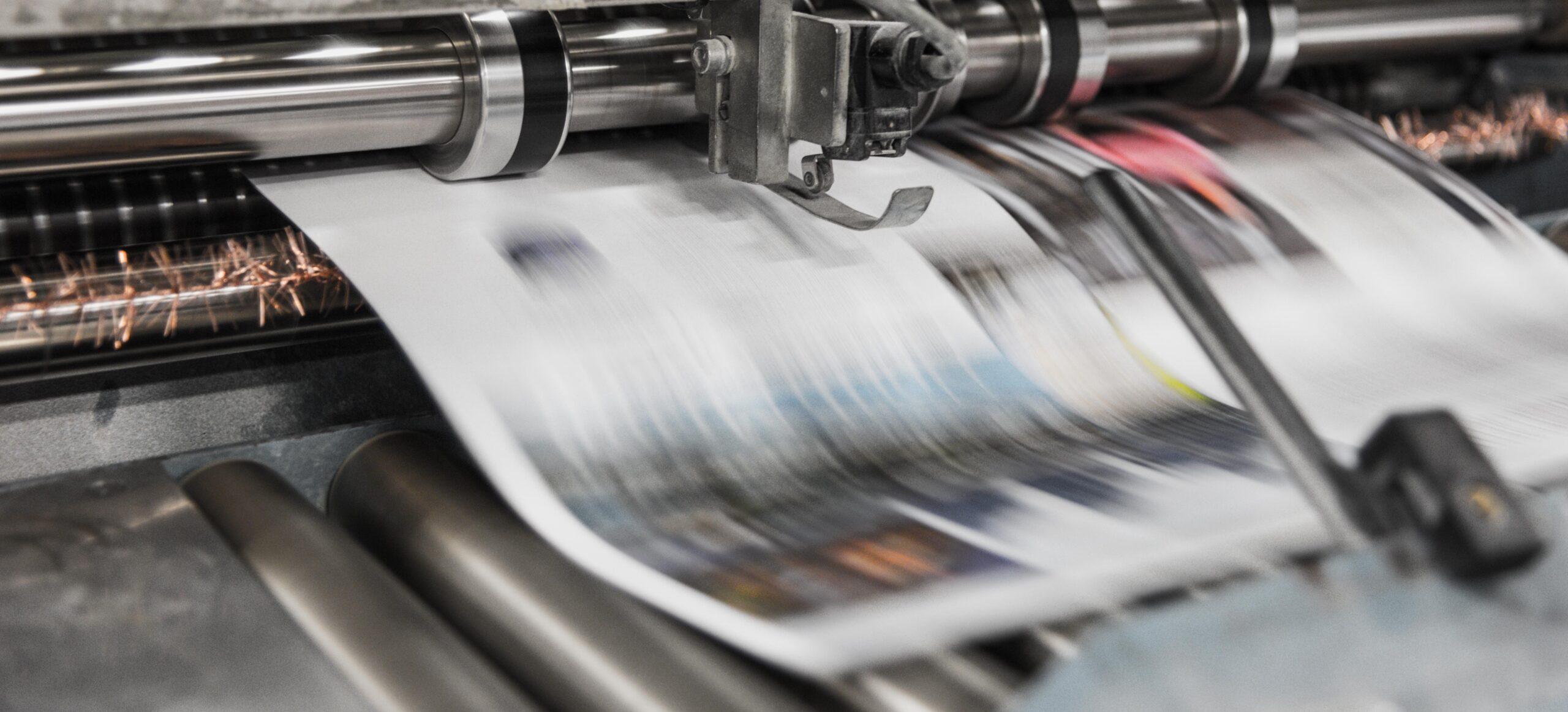 Newspaper printing press - Rachel Writes blog 'I'm a small business, do I need to write press releases?'