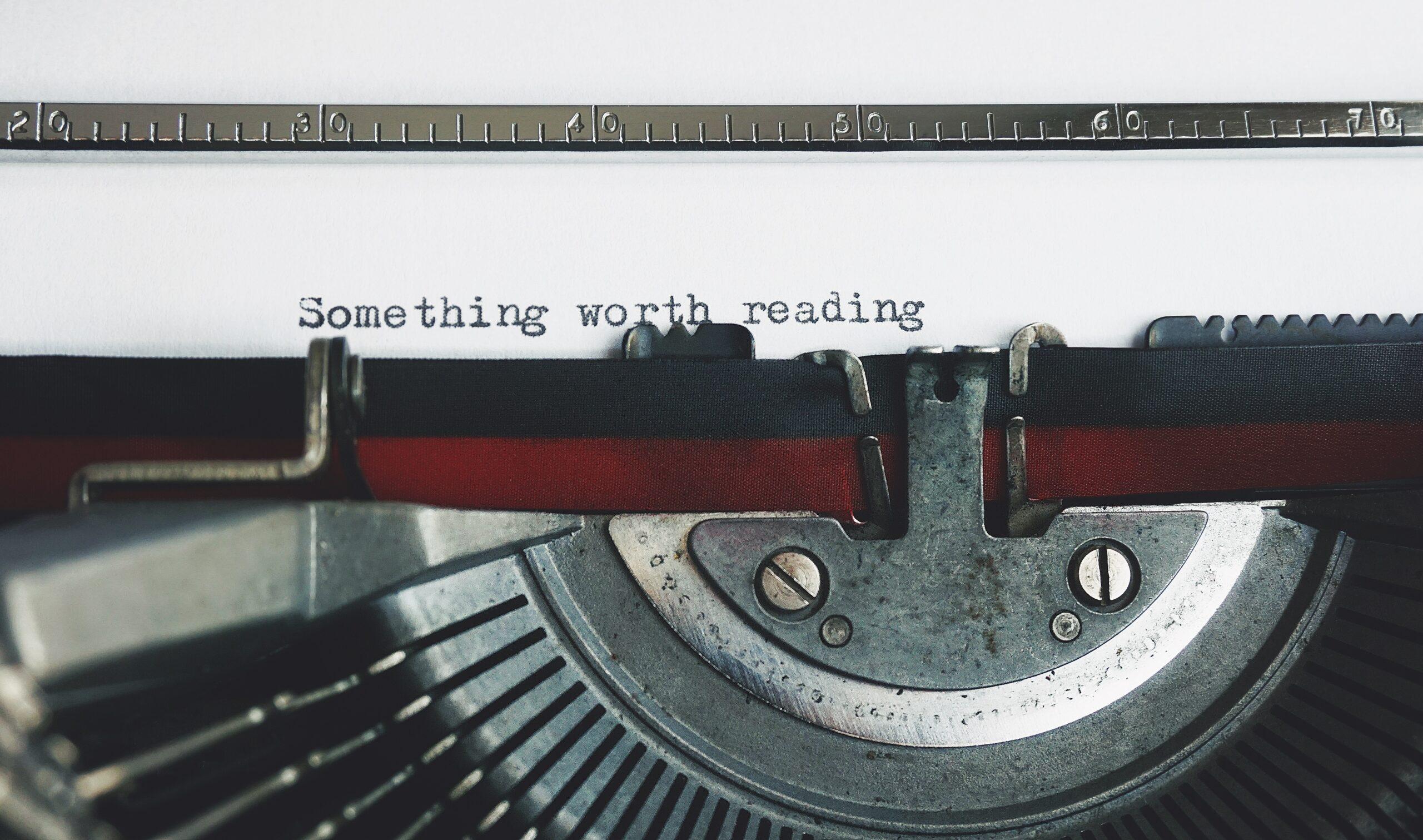 Typewriter - Rachel Writes blog writing service