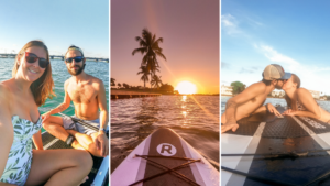Paddle Boarding in Miami by Rosie Andre