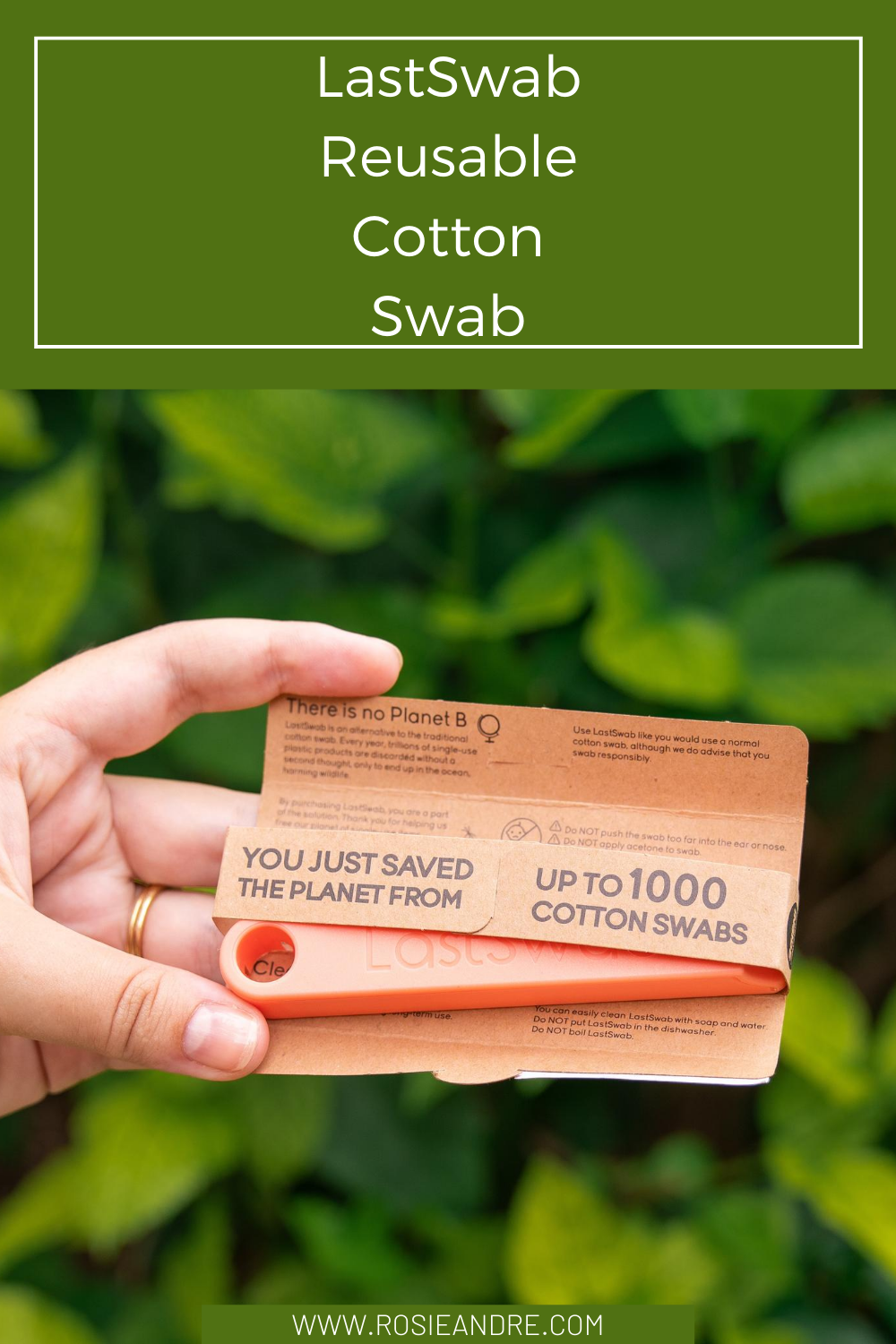 Rosie Andre - LastSwab (Reusable cotton swabs, eco friendly beauty, eco friendly home, eco friendly product, sustainable beauty, sustainable product, sustainable home, no more single use plastic, lastobject, eco friendly, sustainability)