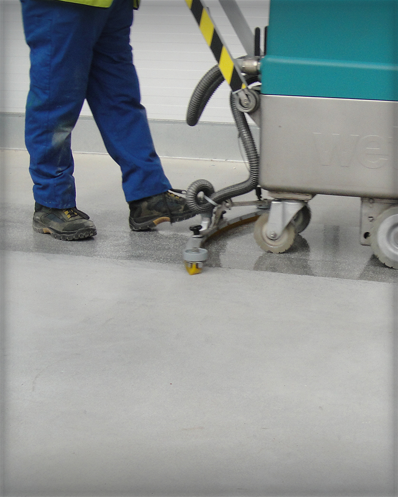 Warehouse Floor Scrubber