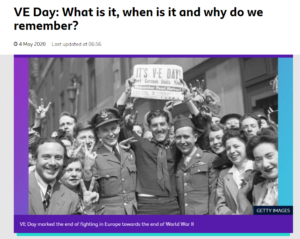 LoLink to Newsround VE Day
