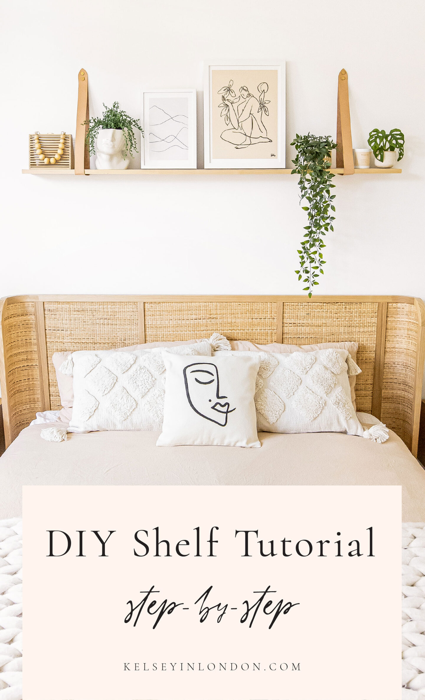 DIY-Shelf-Tutorial-Floating-Wooden-Shelf-with-Leather-Straps---Kelseyinlondon---homewithkelsey---Kelsey-Heinrichs