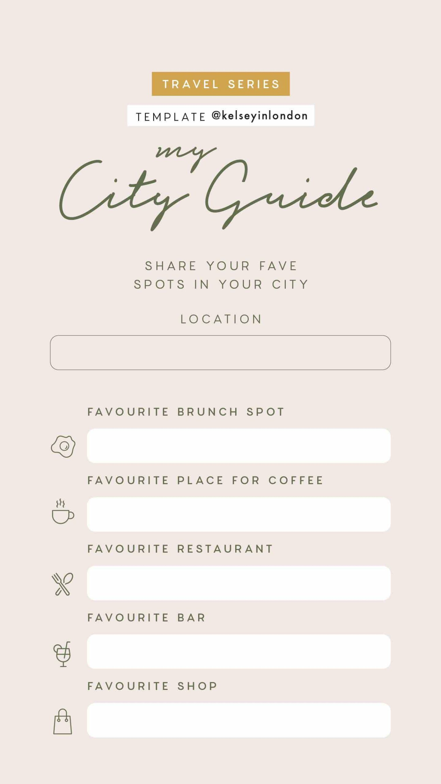 Instagram Story Templates - @kelseyinlondon Kelsey Heinrichs Travel bucket lists travel this or that travel quiz 4