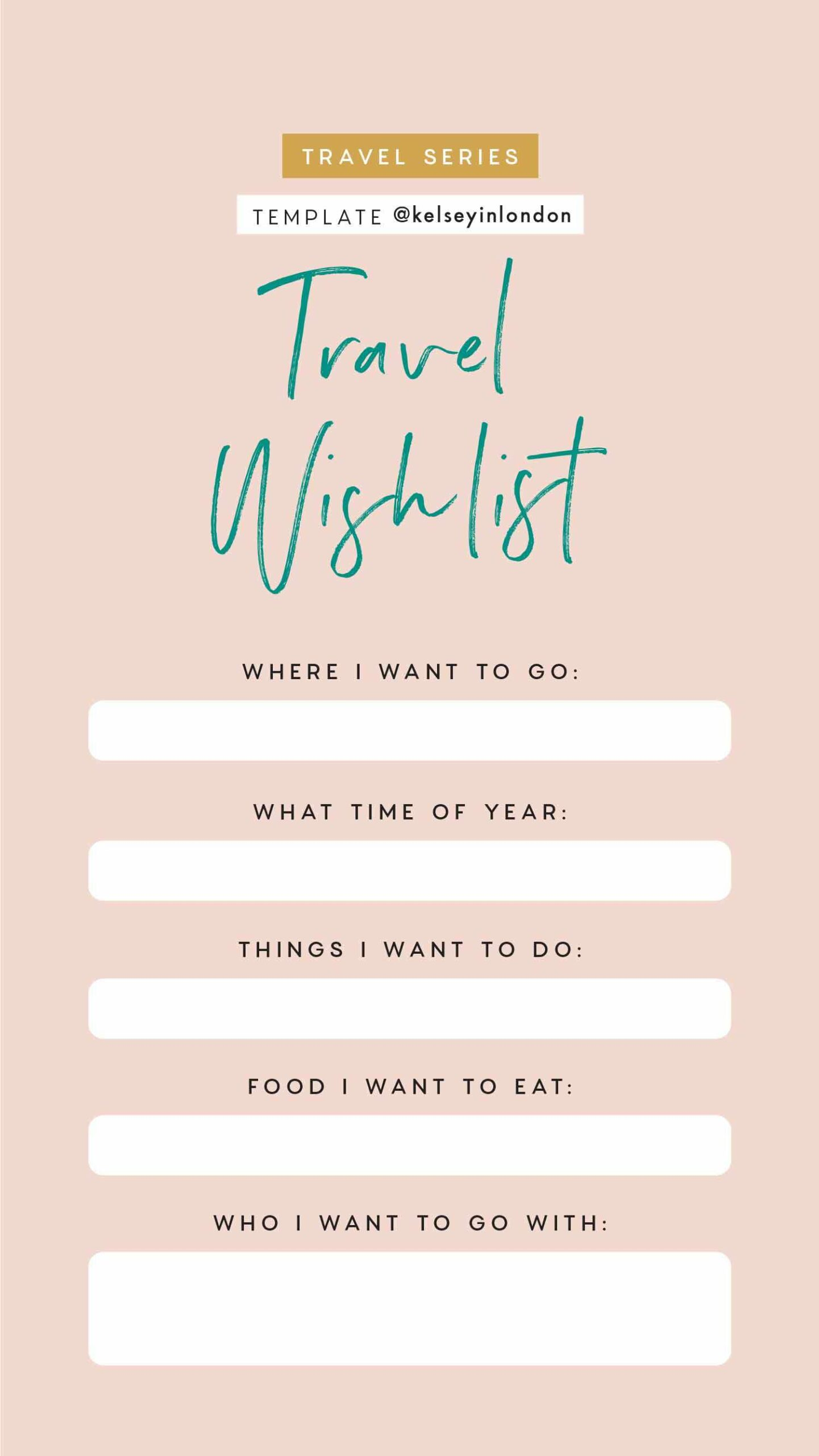 Instagram Story Templates - @kelseyinlondon Kelsey Heinrichs Travel bucket lists travel this or that travel quiz 7