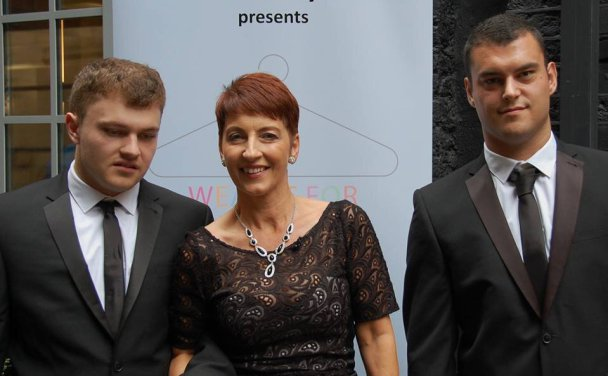 Anna Kennedy with Patrick and Angelo