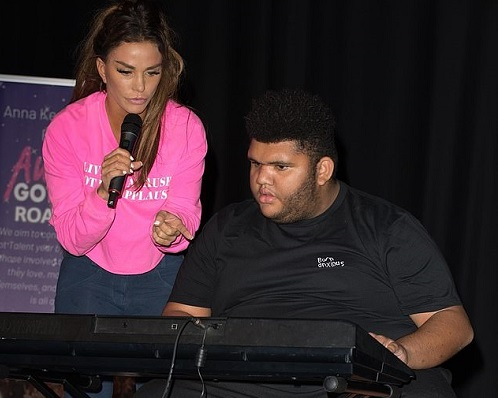Harvey Price performs in Autism's Got Talent as he shows off his keyboard skills