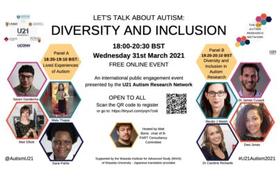 """U21 Autism Research Network are proud to present """"Let's Talk About Autism"""""""