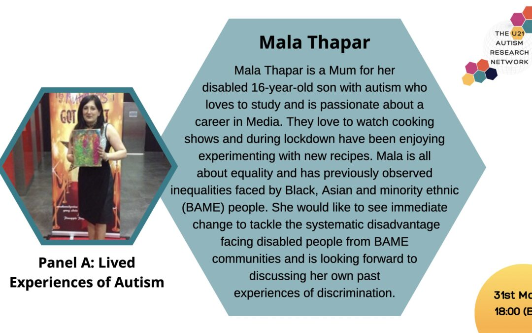 World Autism Day - Is there racism in SEND? The U21 Autism Research Network talk to Mala Thapar our Charity Champion speaks about this important controversial topic!