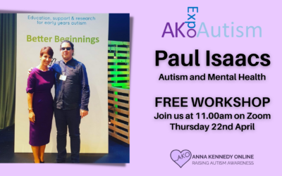 Autism and Mental Health FREE Workshop – by Paul Isaacs