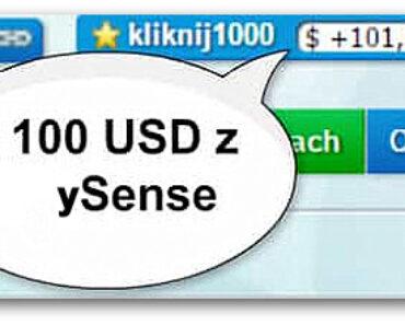 Jak zarabiać więcej w ySense? 100 $ / mies.