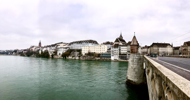 Basel old town view